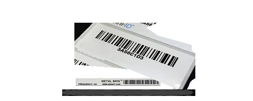 Exemple étiquettes métal UHF